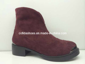 Export Fashion Metal Head Safety Women′s Boots pictures & photos
