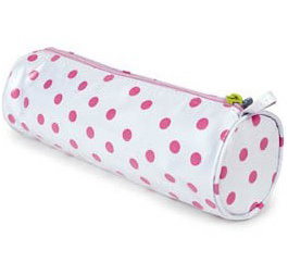Pink Polka DOT Pencil Bag (Dx-Pb307) pictures & photos