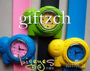 Tortoise Children Student Silicone Slap Band Watch (SLAP0062)
