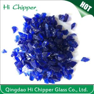Blue Crushed Glass pictures & photos