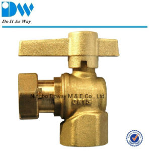 Angle Type Water Meter Ball Valve with Male/Free Nut pictures & photos