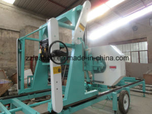 Large Wood Cutting Diesel Engine Horizontal Bandsaw Sawmill Equipment pictures & photos