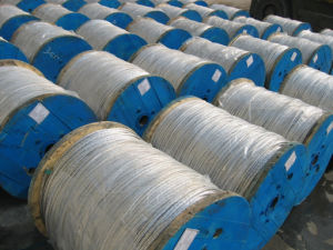 "1/2"" Zinc Coated Steel Wire Overhead Ground Steel Strand ASTM A475 CAS G12 pictures & photos"