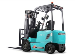 4-Wheel Electric Forklift with CE pictures & photos