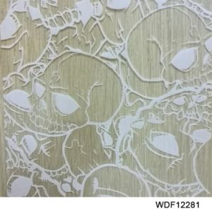 Kingtop 1m Width Skulls and Flame Design  Aqua Print Film Wdf12281 pictures & photos