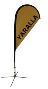 High Quality Teardrop Flag New Style Feather Flag for Display pictures & photos