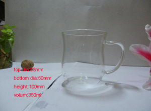 Office Cup High Borosilicate Glass Single Wall Coffee Cup Water Mug for Gifts pictures & photos