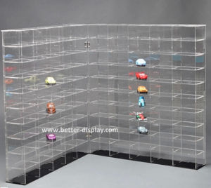 Perspex Model Car Display Cabinets Black Acrylic Model Car Display Cases pictures & photos