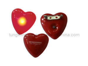 Heart-Shaped Flashing Badge pictures & photos