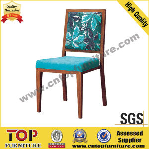 Hotel Aluminum Wood Look Dining Chair pictures & photos