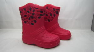 OEM Waterproof Fashion Children′s EVA Snow Boots with Fur (21zx1007) pictures & photos