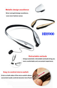 2016 New High Quality Bluetooth 4.0 Headset (HBS900) pictures & photos
