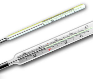 Glass Mercury Clinical Oral Thermometers pictures & photos