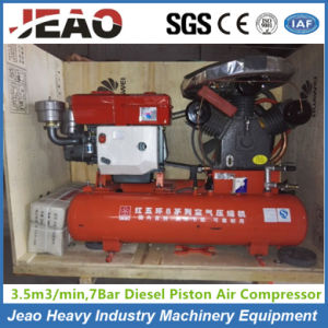 Portable Small Diesel Mining Air Compressor for Zimbabwe Gold Mining pictures & photos