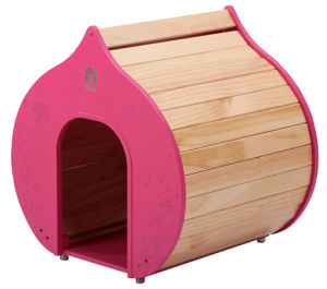 Pink Heart-Shaped Wooden Indoor Doghouses pictures & photos
