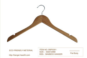 Wholesale Cheap Bamboo Suit Coat Clothing Hanger Simple pictures & photos