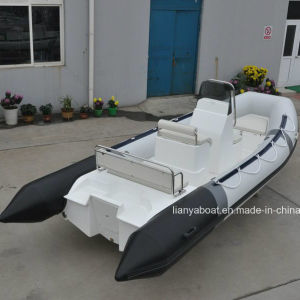 Liya 17ft Inflatable Boat Hypalon Rubber Boat with Engine for Sale pictures & photos