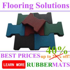 Horse Stable Dog Bone Shape Rubber Flooring Tile Paver Mat pictures & photos