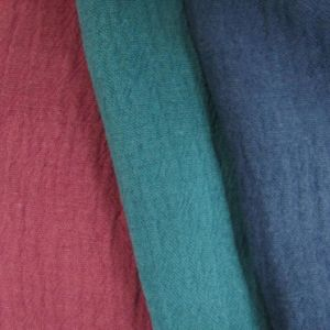 55%Linen 45%Cotton Fabric, Crepe Cotton Linen Fabric