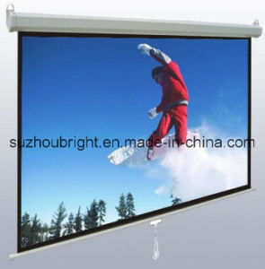 Wall Mounted Self Lock Manual Projector Screen Projection Screen pictures & photos