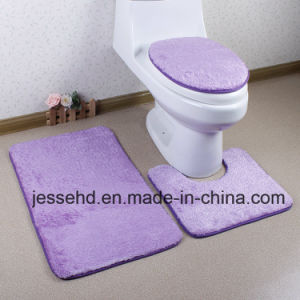 Baeutiful Color High Pile Bath Mat Set Cover Seat Toilet pictures & photos