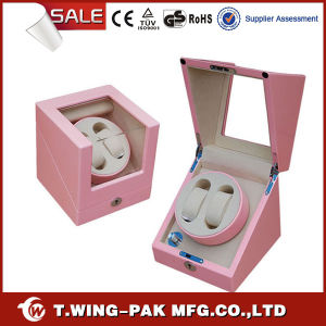 Elegant Beautiful Pink Color Single Rotor Automatic Watch Winder
