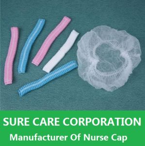 Disposable Single Double Elastic Clip Nurse Cap for Medical pictures & photos