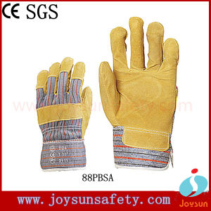Industrial Safety Glove Pig Split Leather Working Gloves (88PBSA)