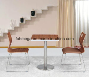 Customized Small Aluminum Sealing Dining Table (FOH-BC02) pictures & photos