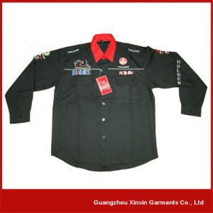 Long Sleeve Racing Pit Crew Team Shirt with Your Logos (S27) pictures & photos
