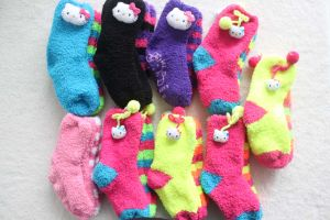 Children′s Lovely Socks Lovely Fluffy with Animal Head