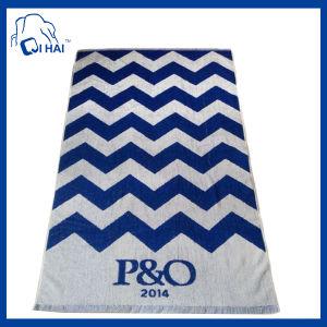 100% Cotton Jacquard Beach Towel (QH900990)