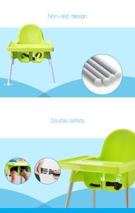 Red, Green and Blue Plastic Baby Highchair and Dining Chair pictures & photos