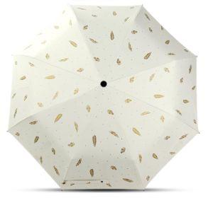 Lady UV Protection Black Coating 3 Folding Umbrella pictures & photos