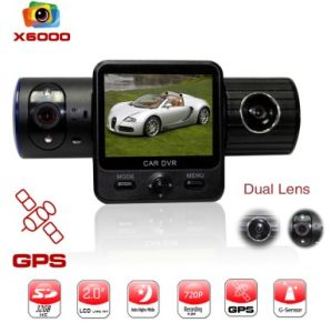 Full HD Car DVR DVR X6000 with GPS and G-Sensor (FLY-DVR-X6000)