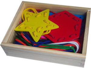 Wooden DIY Toys Lacing Game in a Box pictures & photos