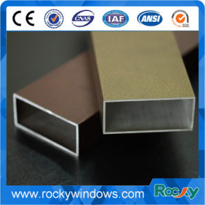 Wood Grain Aluminum Profiles for Thermal Break Windows pictures & photos