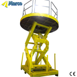CE Approved Marco High Scissor Lift Table with Guardrail pictures & photos