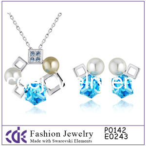 Fashion Rhodium Wedding Crystal Jewelry Set 2012 P0142 E0243