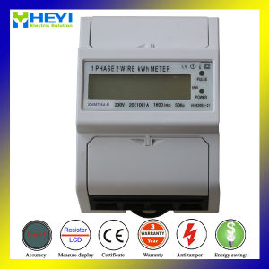 DIN Rail Kwh Meter Digital Energy Meter Single Phase Two Wire New Design pictures & photos