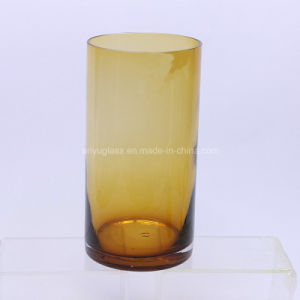 Colorful Cylinder Shape Glass Flower Vase for Decoration Home pictures & photos