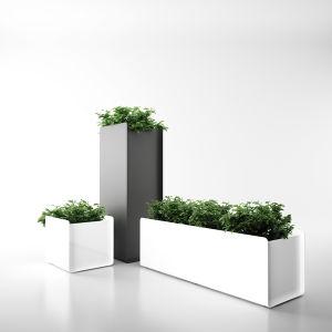 Uispair Modern Office Garden Decoration Square 100% Steel Garen Flowerpot pictures & photos