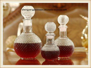 3PC Sphere Glass Wine Decanter Set with Glass Lid pictures & photos