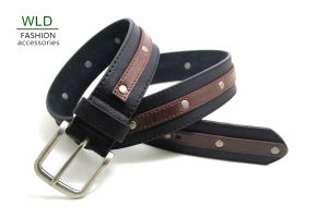 Classic and Basic Man Belt with Split Leather Linning Belt M885 pictures & photos