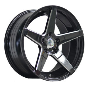 17 Inch Black Painted Inner Groove Alloy Car Wheel UFO-LG16 pictures & photos