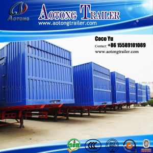 3 Axles Used Enclosed Van Box Semi Trailer in Stock pictures & photos