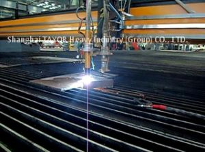 Two Flame Torch CNC Gas Cutting Machine 2000X6000mm Cutting Area pictures & photos