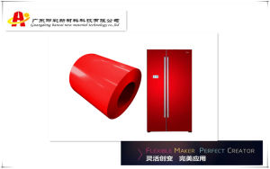 Hancai PCM Red Color Coated Steel Coil for Refrigerator