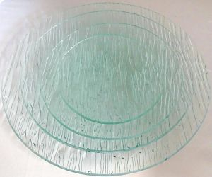 Retro Clean Tree Bark Glass Ecorative Food Tempered Glass Plate pictures & photos