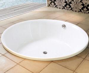 round acrylic dropin built in bathtub
